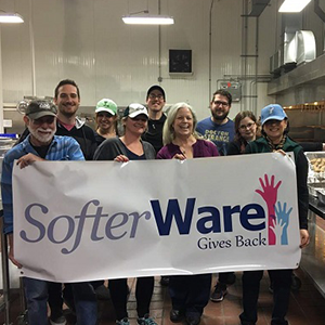 SofterWare Employees Helping at Soup Kitchen