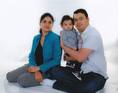 Photo of a SofterWare employee and her beautiful family